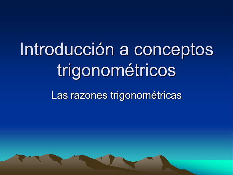 Introducción a conceptos trigonométricos