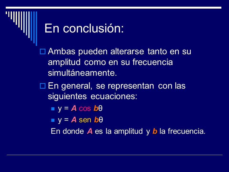 En conclusión: Ambas pueden alterarse tanto en su amplitud como en su frecuencia simultáneamente.