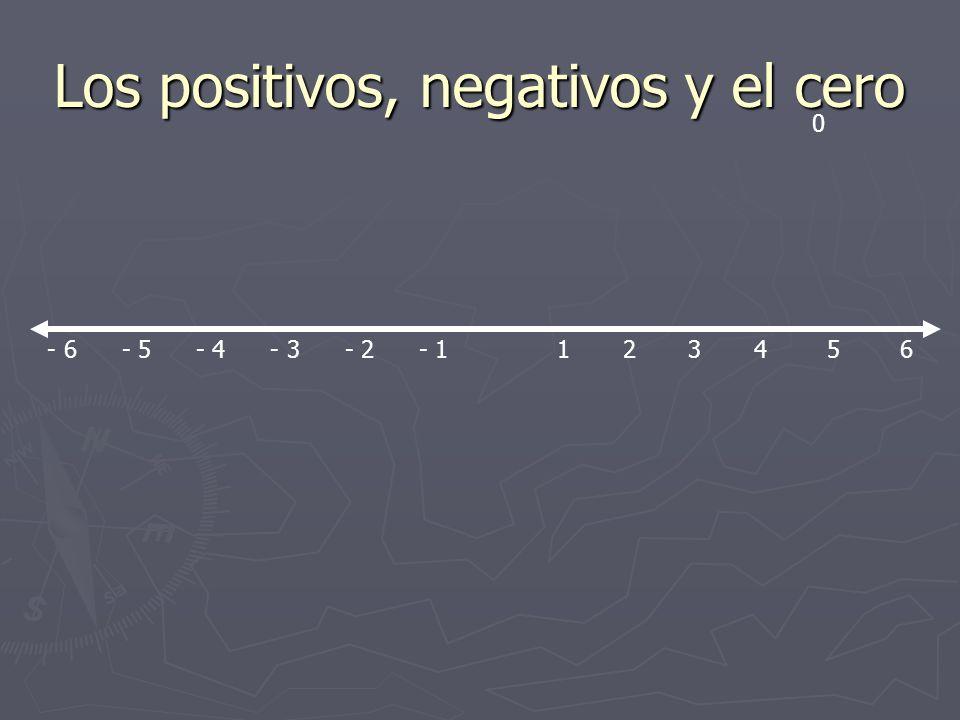 Los positivos, negativos y el cero
