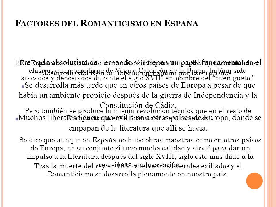 Factores del Romanticismo en España