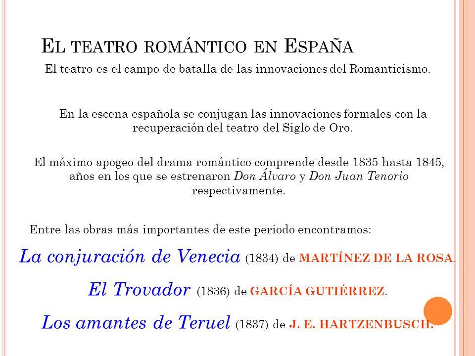 El teatro romántico en España
