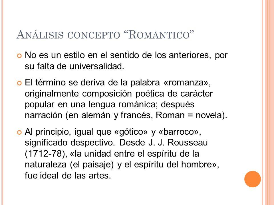 Análisis concepto Romantico