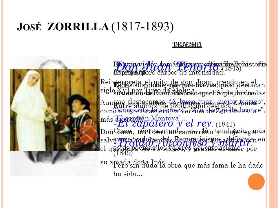 Don Juan Tenorio (1845) José ZORRILLA (1817-1893)
