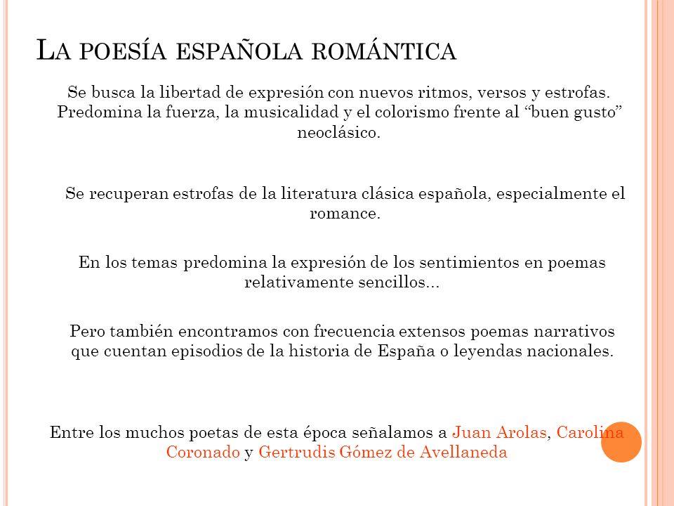 La poesía española romántica
