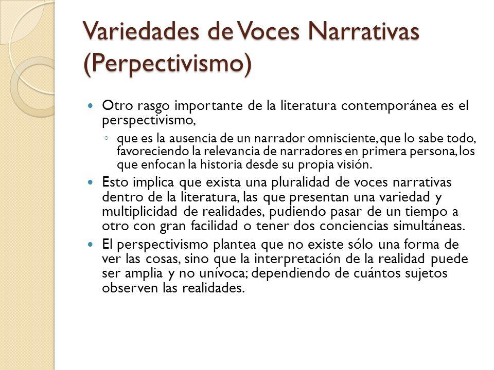 Variedades de Voces Narrativas (Perpectivismo)