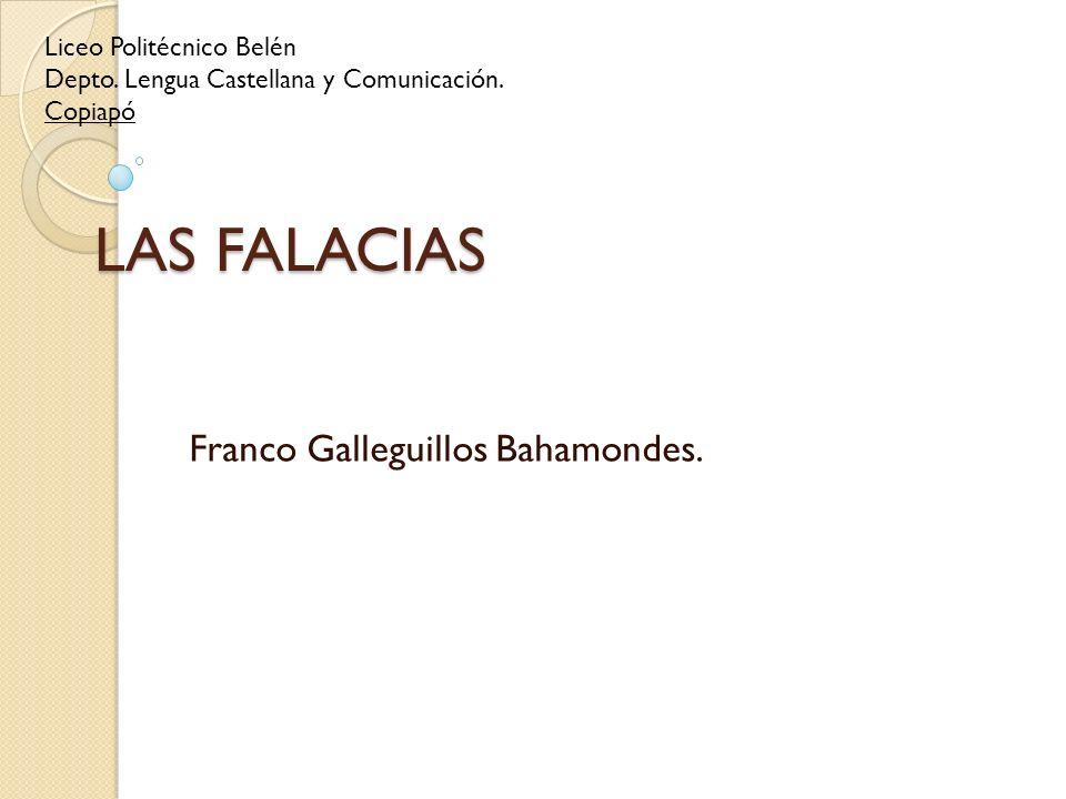 Franco Galleguillos Bahamondes.