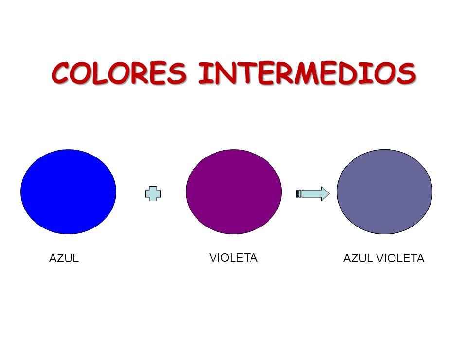 COLORES INTERMEDIOS AZUL VIOLETA AZUL VIOLETA