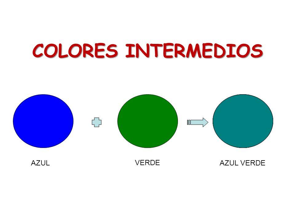 COLORES INTERMEDIOS AZUL VERDE AZUL VERDE