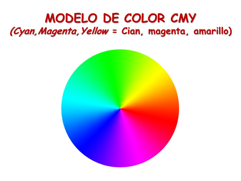 (Cyan,Magenta,Yellow = Cian, magenta, amarillo)
