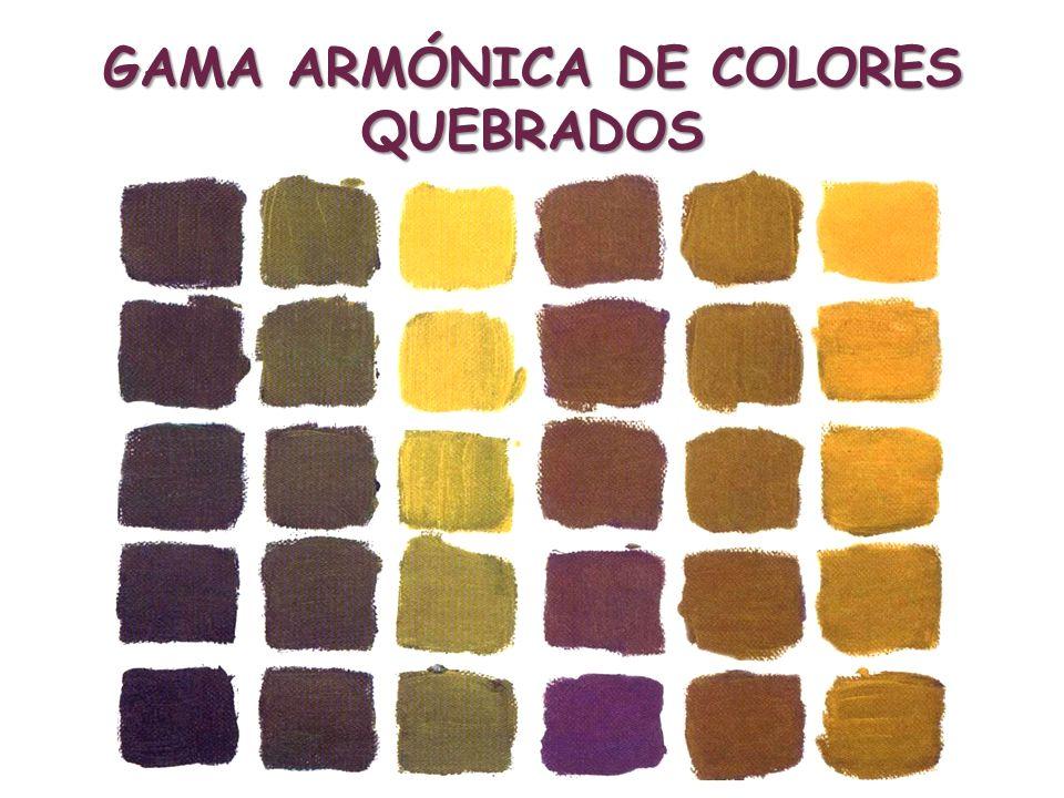 GAMA ARMÓNICA DE COLORES QUEBRADOS