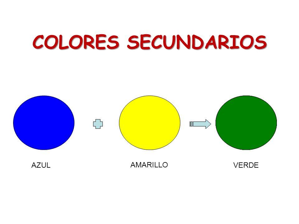 COLORES SECUNDARIOS AZUL AMARILLO VERDE