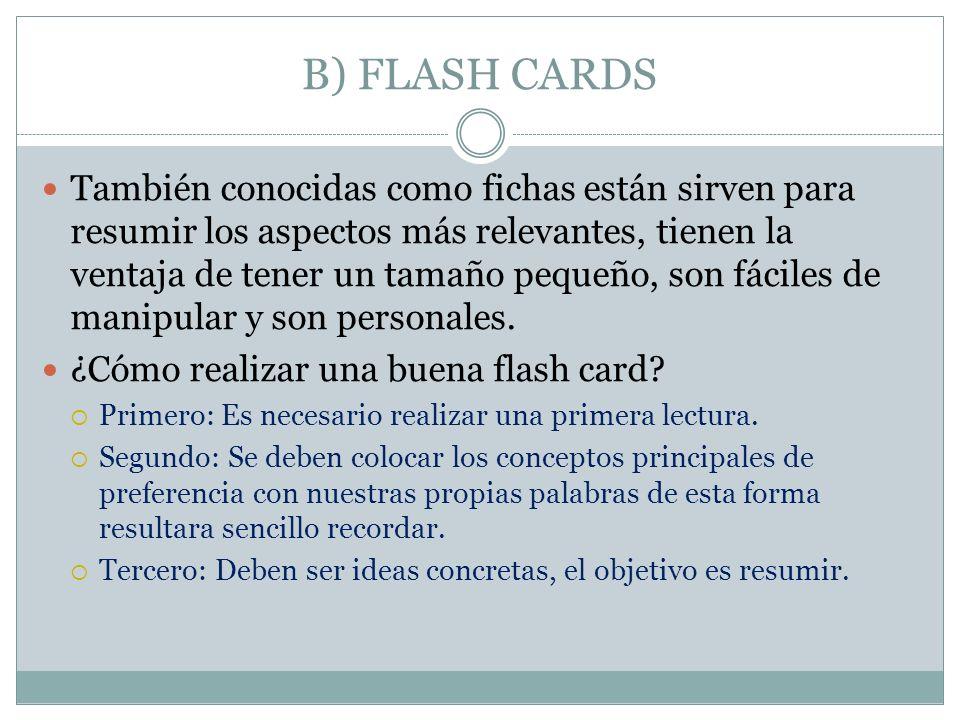 B) FLASH CARDS