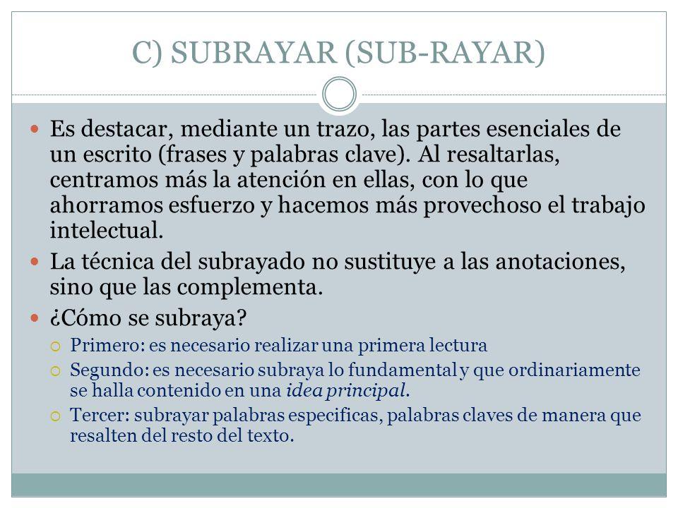 C) SUBRAYAR (SUB-RAYAR)