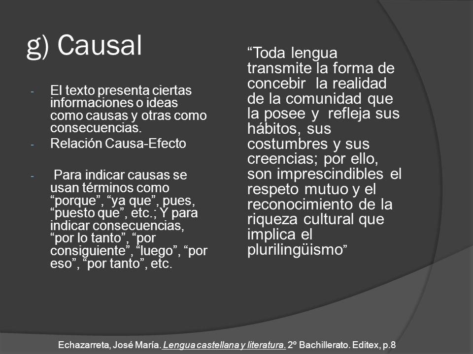 g) Causal