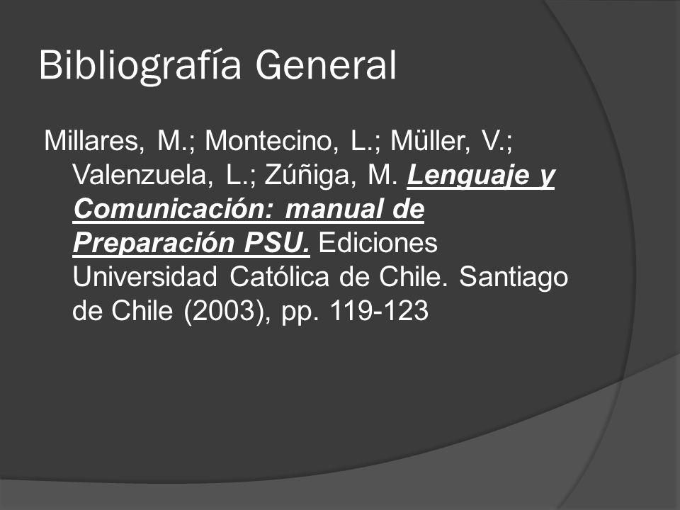 Bibliografía General
