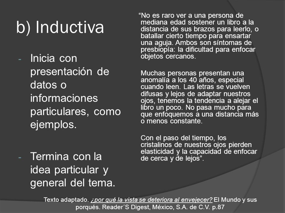 b) Inductiva