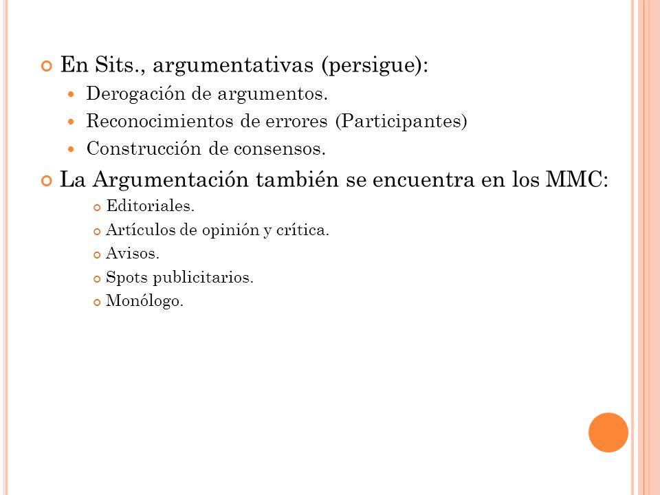 En Sits., argumentativas (persigue):