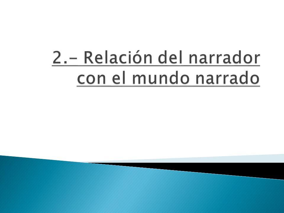 2.- Relación del narrador con el mundo narrado