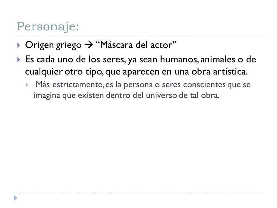Personaje: Origen griego  Máscara del actor