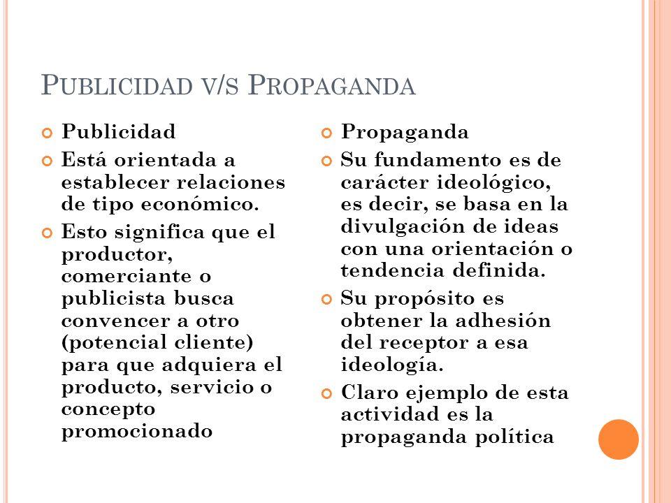 Publicidad v/s Propaganda
