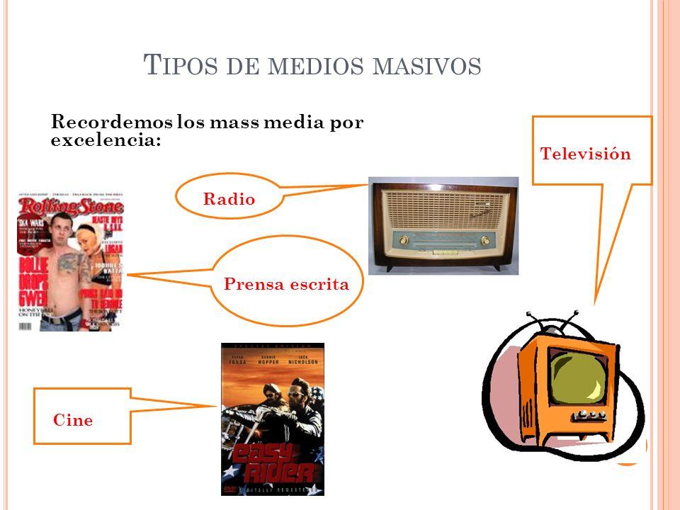 Tipos de medios masivos