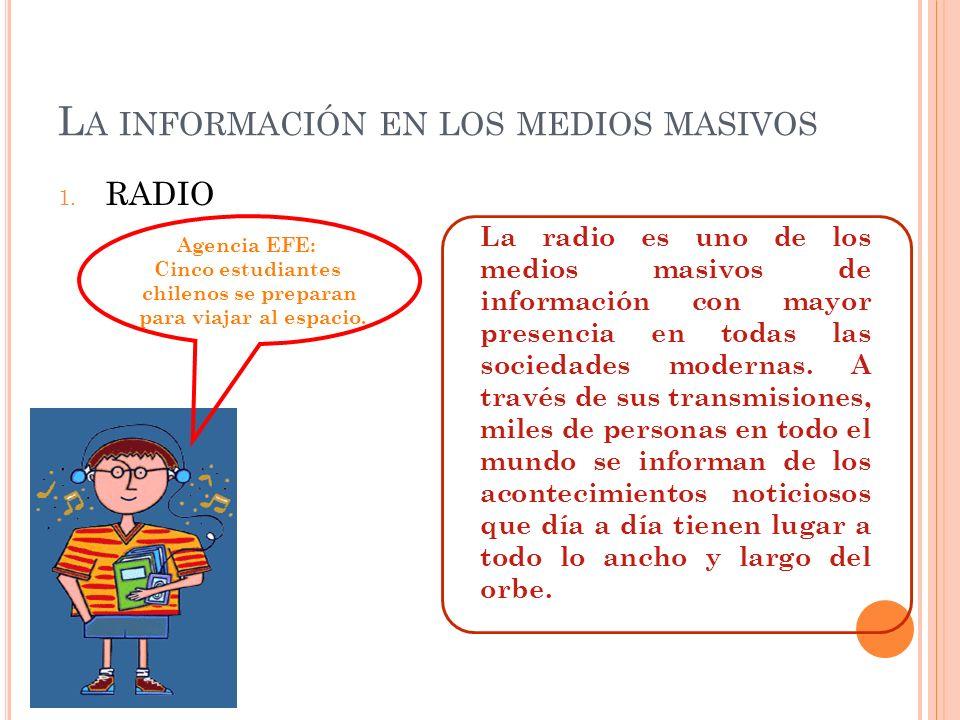 La información en los medios masivos