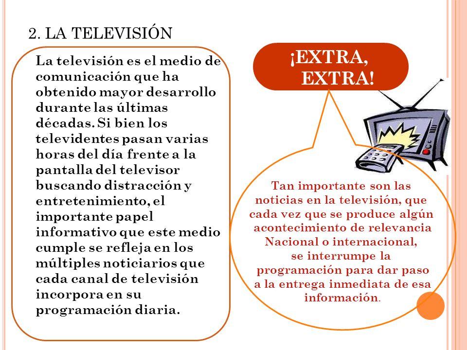 ¡EXTRA, EXTRA! 2. LA TELEVISIÓN