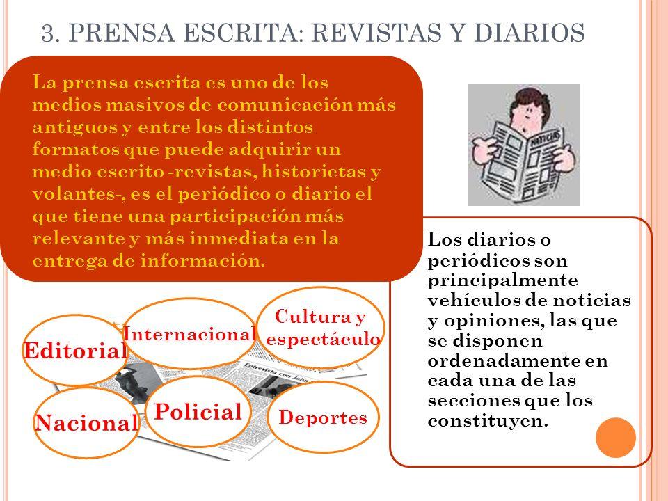 3. PRENSA ESCRITA: REVISTAS Y DIARIOS
