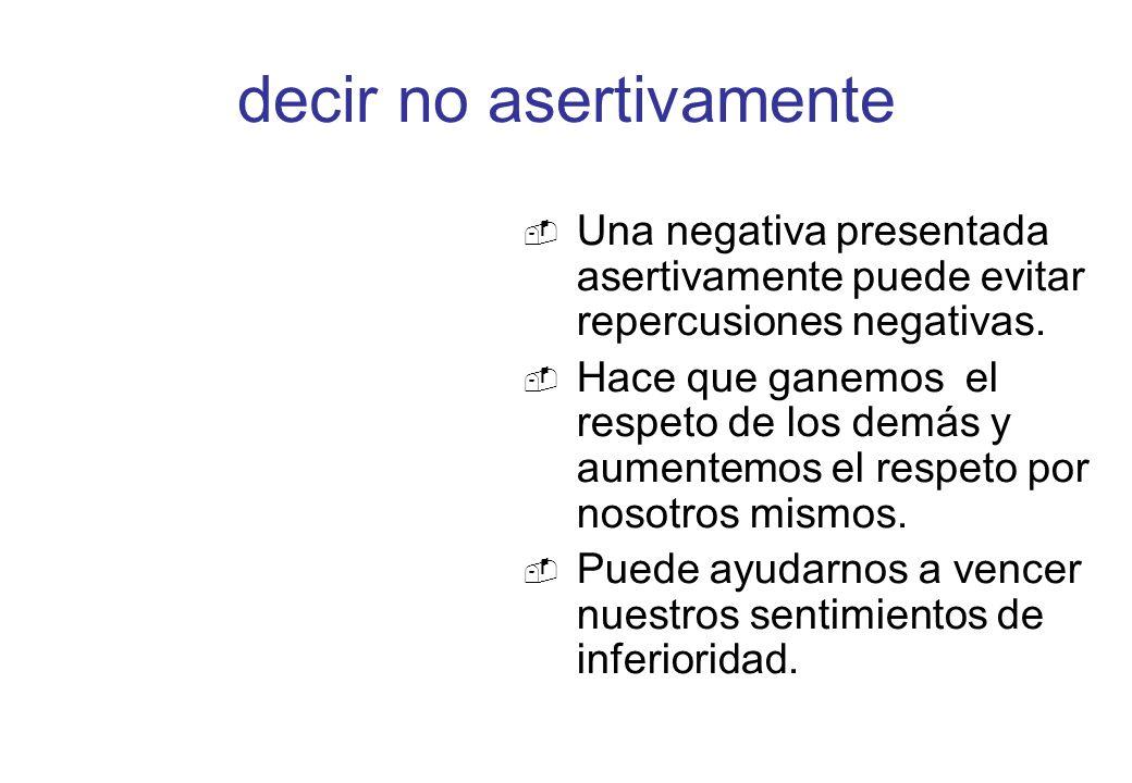decir no asertivamente
