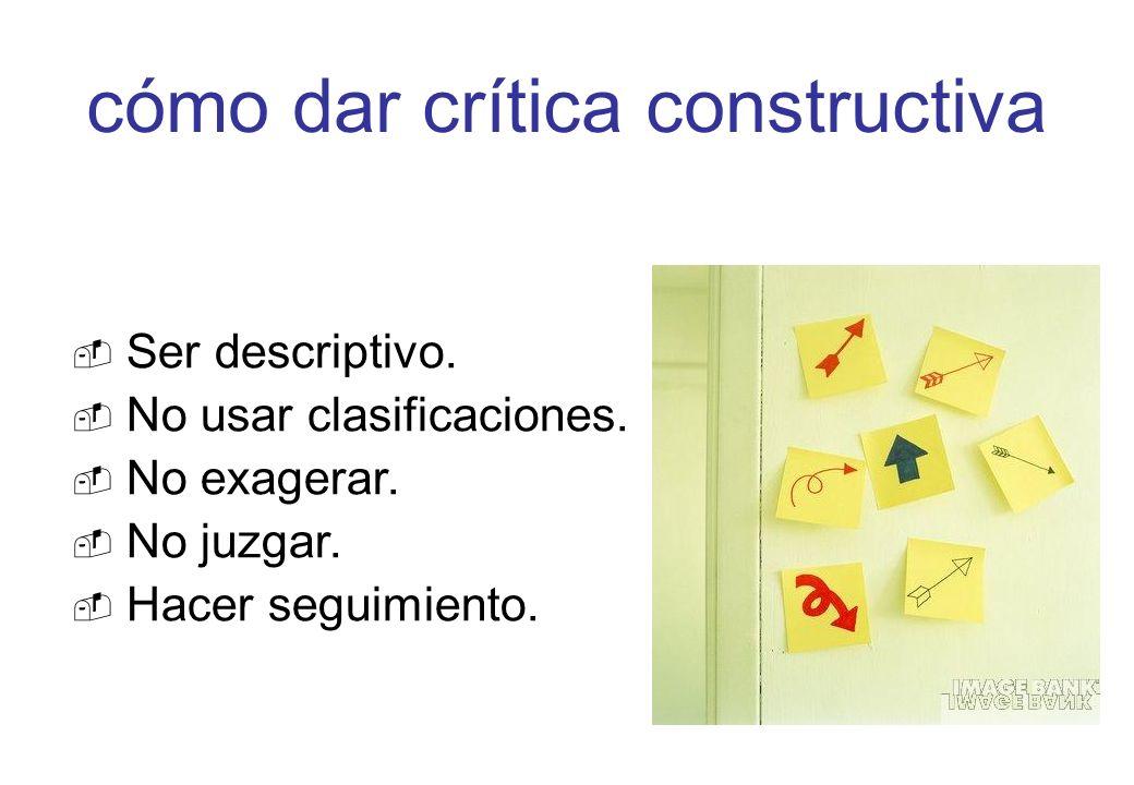 cómo dar crítica constructiva