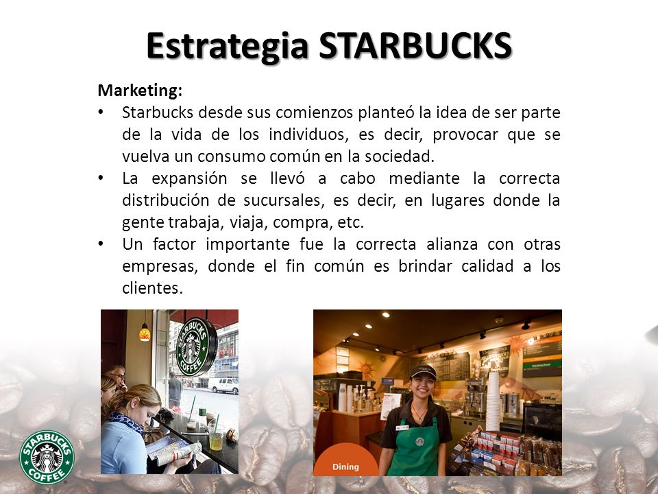 Estrategia STARBUCKS Marketing: