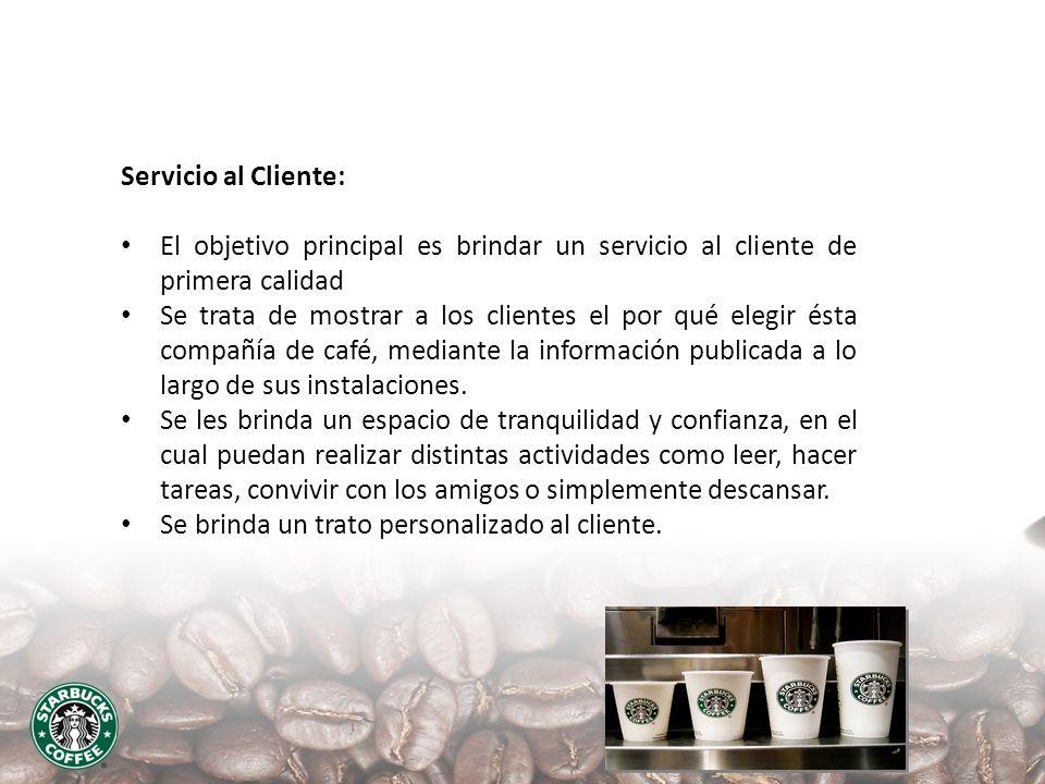 Servicio al Cliente: El objetivo principal es brindar un servicio al cliente de primera calidad.