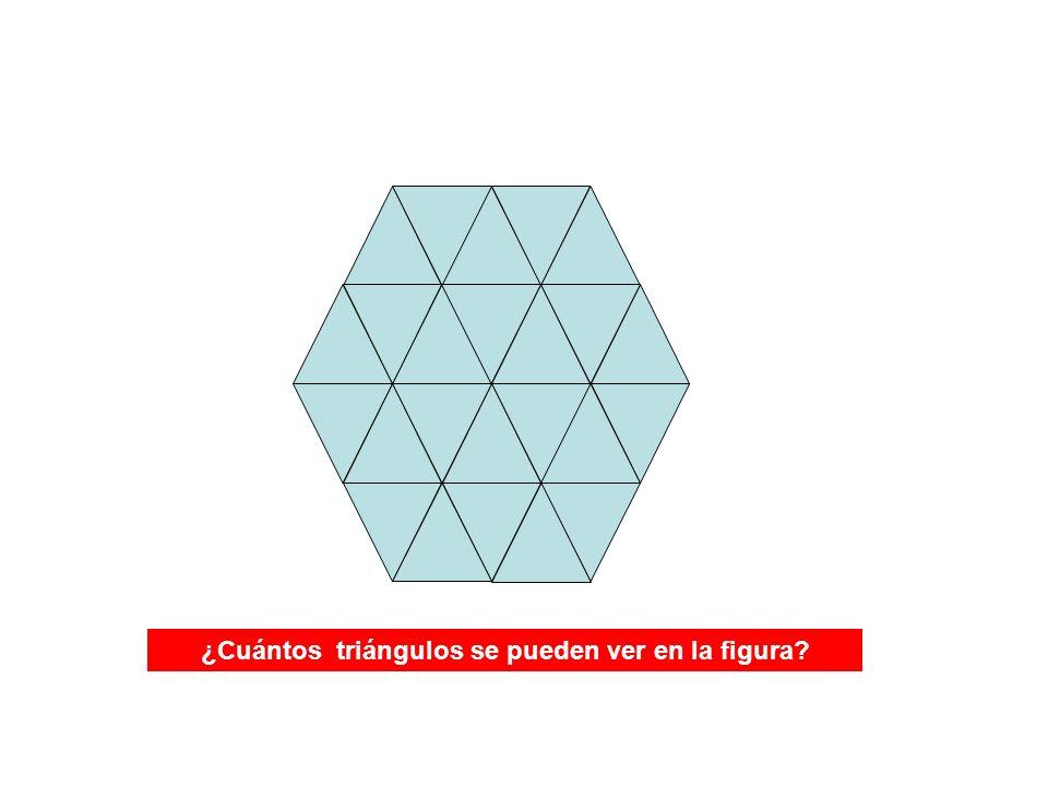 ¿Cuántos triángulos se pueden ver en la figura