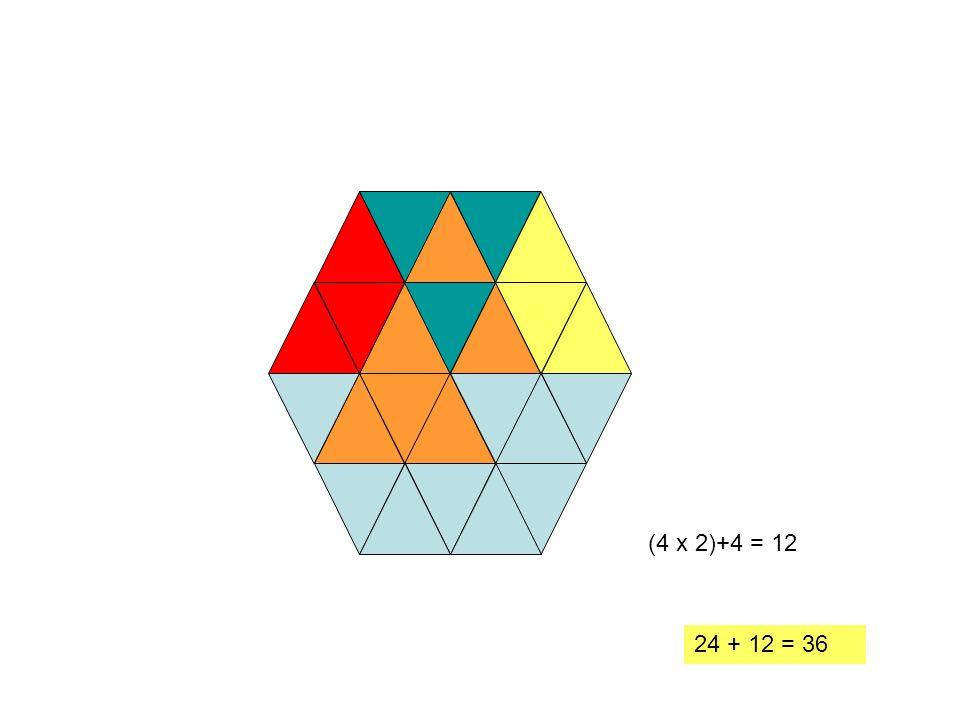 (4 x 2)+4 = 12 24 + 12 = 36 20