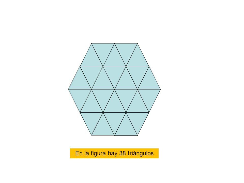 En la figura hay 38 triángulos