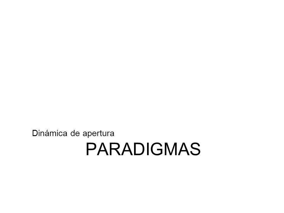 Dinámica de apertura PARADIGMAS