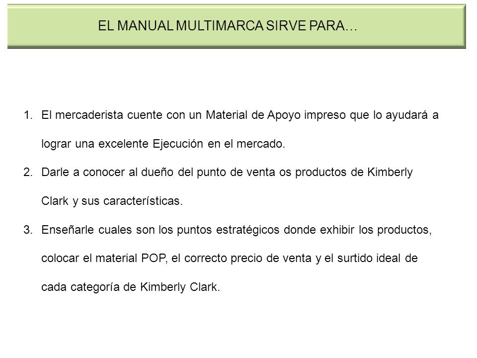 EL MANUAL MULTIMARCA SIRVE PARA…