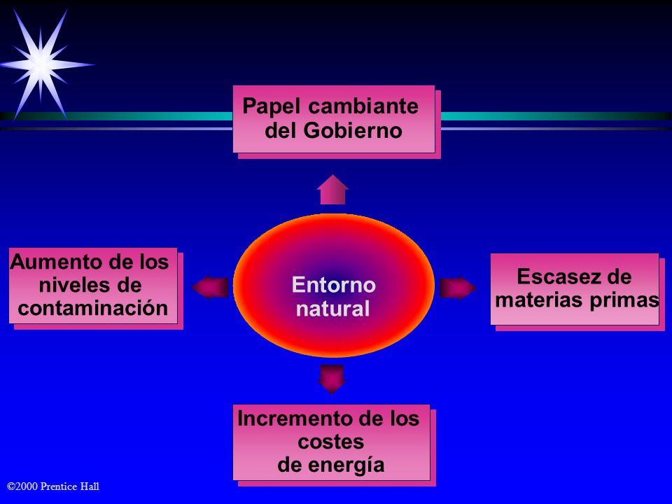 Papel cambiante del Gobierno Entorno natural