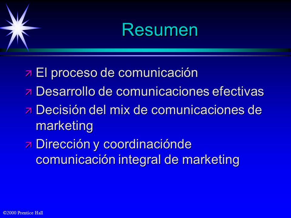 Resumen El proceso de comunicación