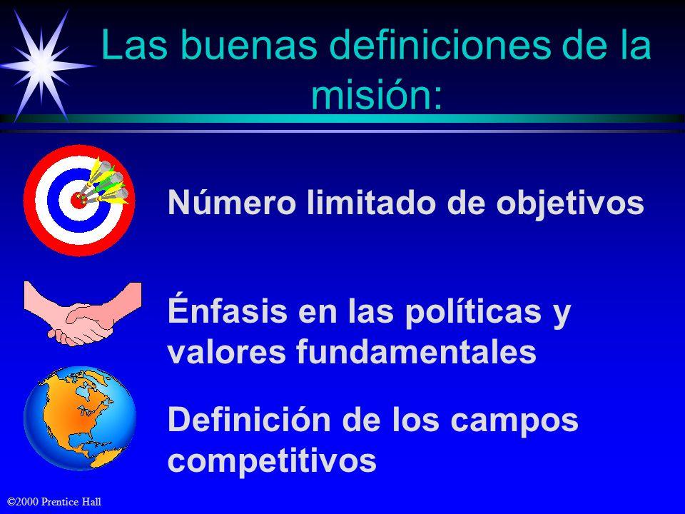 Las buenas definiciones de la misión:
