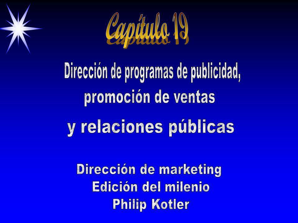 Capítulo 19 Dirección de programas de publicidad, promoción de ventas