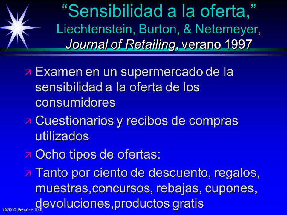 Sensibilidad a la oferta, Liechtenstein, Burton, & Netemeyer, Journal of Retailing, verano 1997
