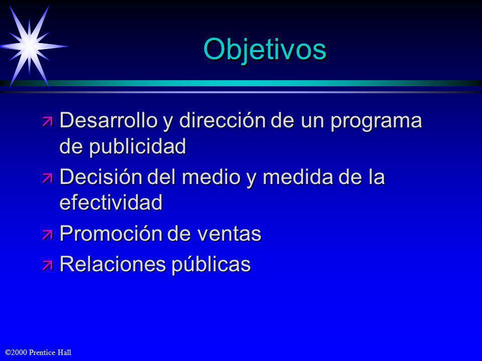Objetivos Desarrollo y dirección de un programa de publicidad