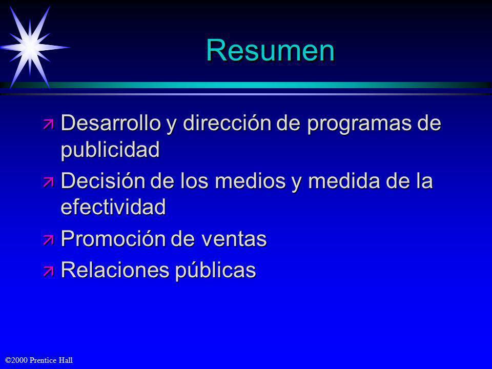 Resumen Desarrollo y dirección de programas de publicidad