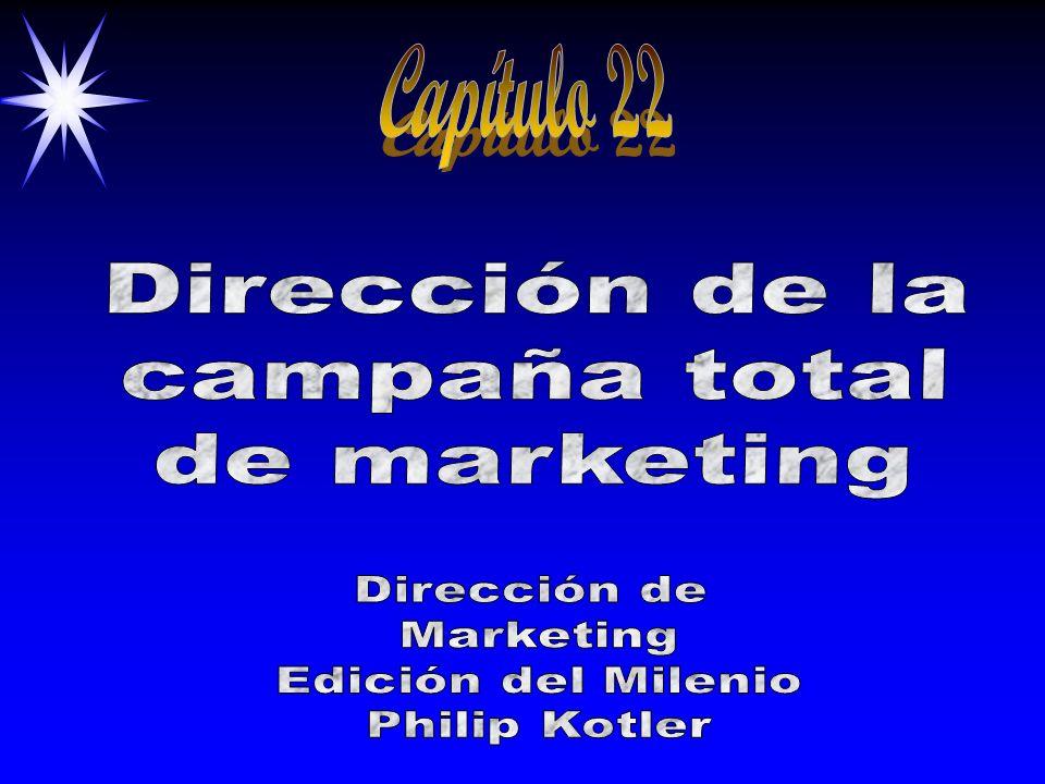 Capítulo 22 Dirección de la campaña total de marketing Dirección de
