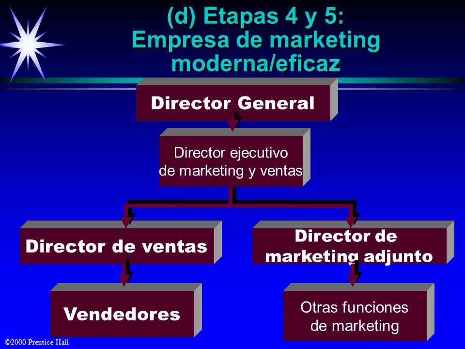 (d) Etapas 4 y 5: Empresa de marketing moderna/eficaz