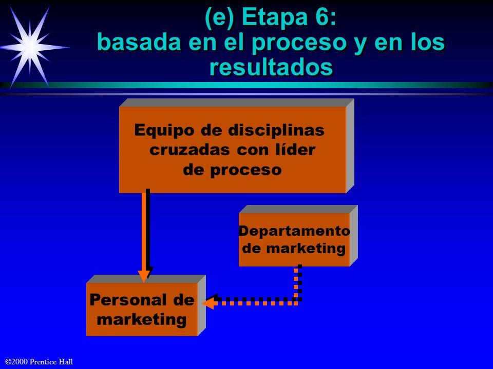 (e) Etapa 6: basada en el proceso y en los resultados