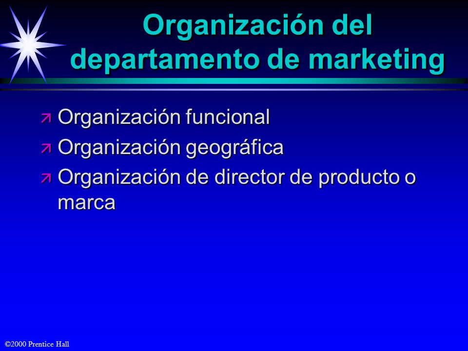 Organización del departamento de marketing