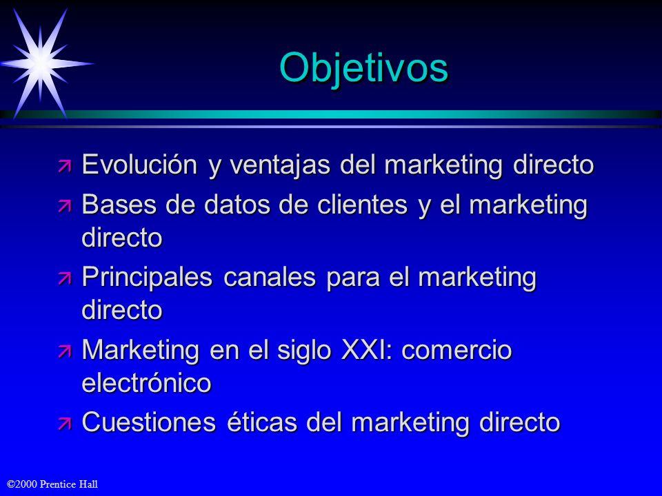 Objetivos Evolución y ventajas del marketing directo