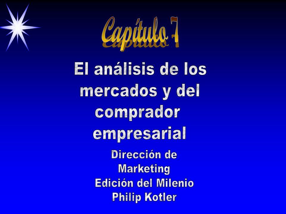 Capítulo 7 El análisis de los mercados y del comprador empresarial